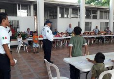 Imparten curso de vialidad a niñas y niños de Gutiérrez Zamora