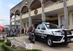 Recibe Policía Naval patrullas, en Cosoleacaque