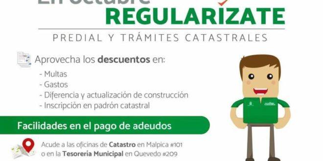 Inicia catastro programa regular zate en octubre for Oficina de catastro