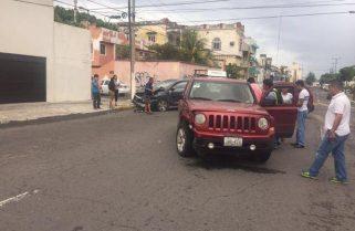Aparatoso choque en Zamora e Hidalgo, en Veracruz