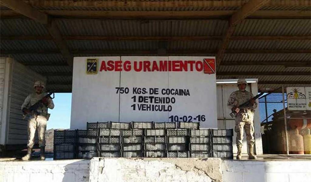 Decomisa Ejército 750 kilos de cocaína en Sonora