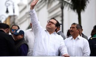 El gobernador de Veracruz, Javier Duarte, encabezó el acto conm