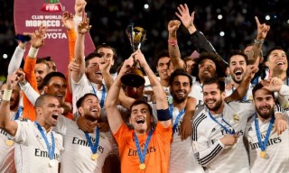 during the FIFA Club World Cup Final between Real Madrid and San Lorenzo at Marrakech Stadium on December 20, 2014 in Marrakech, Morocco.